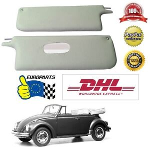 Volkswagen Vw Old Beetle 1500l Cabrio Sun Visors Creme Leatherette Free Shipping