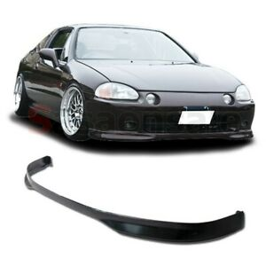 Fit For 93 95 Honda Del Sol Jdm Type r Pu Urethane Front Bumper Lip