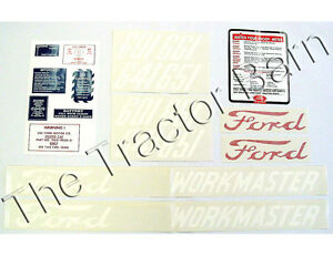 Ford 601 Series 20 Piece Mylar Workmaster Decal Set 1958 1962 641 D 6015862