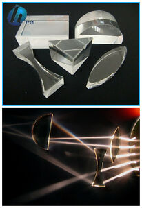 5pcs Optical Educational Glass Prism Set Physics Teaching Light Spectrum Prism