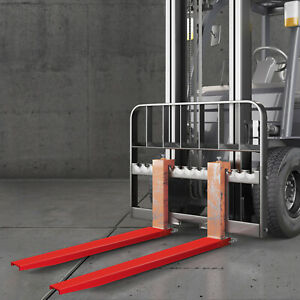 84x4 Forklift Pallet Fork Extensions Pair Steel Great Lift Truck