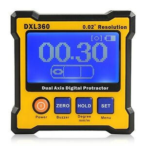 Floureon Axis Level Box Inclinometer Dual Axis Digital Angle Protractor With