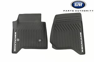 2015 2019 Cadillac Escalade Premium All Weather Front Floor Mats 23452752 Black