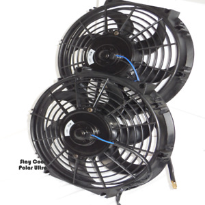 Eclipse Radiator Fans set Of Two 12 Electric Cooling Fans W relay Wiring Kit