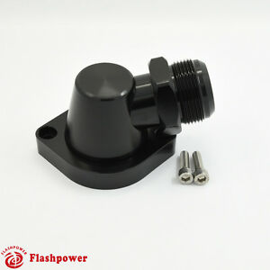 Billet Swivel Thermostat Housings Water Neck 90 An20 Ls Engine Black