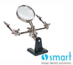 Helping Third Hand Soldering Stand With 2x Magnifying Glass Solder Dental Lab