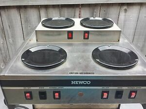 Newco Automatic 6 Burner Pots Coffee Maker Brewer 120 Volts 20 Amp