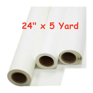24 X 5 Yard Roll Printable Heat Transfer Vinyl For T shirt Fabric White Color