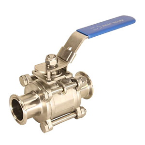 Hfs r 1 1 2 Sanitary Ball Valve Tri Clamp Clover Stainless Steel