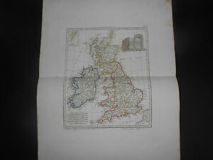 1847 Copper Engraving Map Of Great Britain England Wales Scotland Eire N Ireland