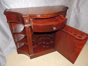 Mahogany Serpentine Bar Cabinet Unusual Decorative Mahogany Demi Lune Diningroom