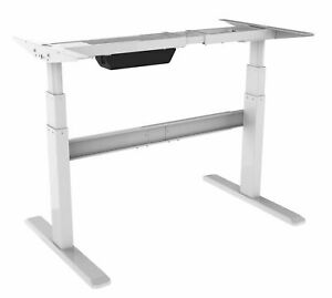 Mount it Electric Stand Up Desk Frame Only Dual Motor Height Adjustable white