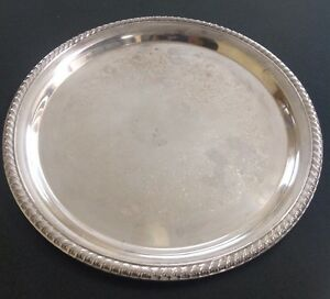 Vintage Wm Rogers Silverplated 12 25 Serving Tray
