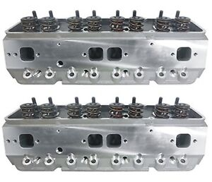 Precision Race Cylinder Heads Small Block Chevy W 550 Lift Springs Sbc 350 383