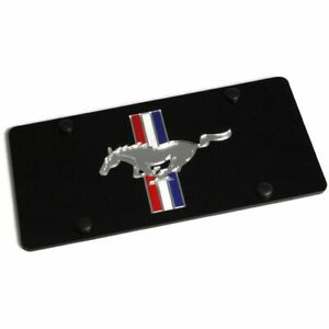 Laser Acrylic Ford Mustang Retro License Plate Frame 3d Novelty Tag