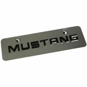 Stainless Steel Ford Mustang Black Mustang Mini Half License Plate Frame Novelty