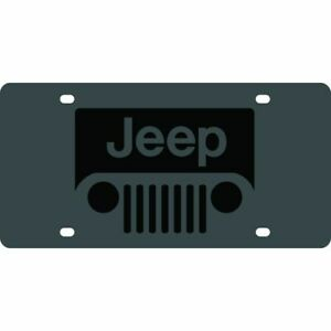 Stainless Steel Black Jeep Grill License Plate Frame 3d Novelty Tag