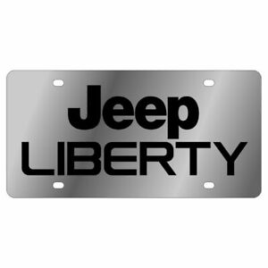 Stainless Steel Plate Jeep Liberty Black License Plate Frame 3d Novelty Tag