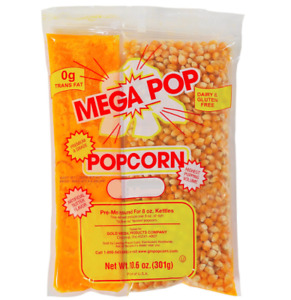 Popcorn Kits For Popcorn Machines Gold Medal Mega Pop Popcorn 8 Oz 24 Ct