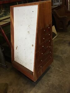 Antique Case Cutlery Knife Show Case Cabinet