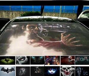 Car Back Rear Window 3d Transparent Decal Vinyl Sticker Batman Monster