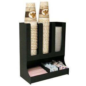 Coffee Condiment Organizer For Lids And Coffee Cups 13 1 2 w X 6 1 2 d X 15