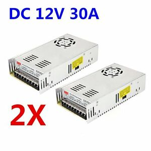 2pcs 12v Dc 30a 360w Regulated Switching Led Power Supply For Led Strip Light Bh