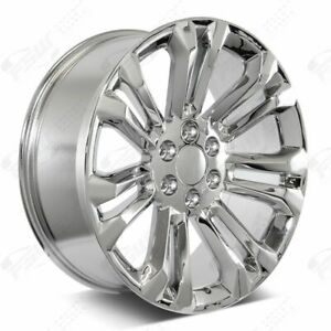 22 2018 Style Chrome Wheels Fits Chevy Gmc Tahoe Yukon Suburban Denali 1500