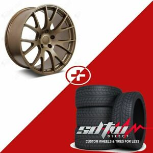 22 Hellcat Style Wheels Tires Fits Dodge Ram 1500 2wd 4wd Durango Dakota Bronze