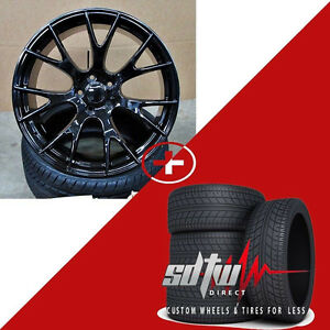 22 Hellcat Style Wheels Tires Gloss Black Fits Dodge Magnum Charger Challenger