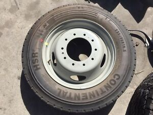New Continental Hsr Tires Wheel And Rim Balanced Off Of Ford F450 F550 Truck