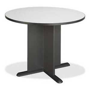 Bush Furniture Series A Collection 42 Inch Round Conference Table Pewter New