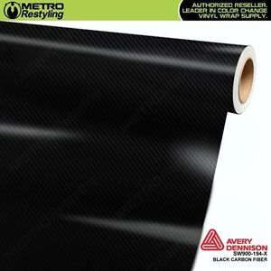 Avery Supreme Black Carbon Fiber Vinyl Vehicle Car Wrap Sheet Roll Sw900 194 X