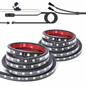 Mictuning 2pcs 60 Led Cargo Truck Bed Light Strip Lamp Lighting Kit Waterproof