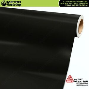 Avery Supreme Matte Black Vinyl Vehicle Car Wrap Film Sheet Roll Sw900 180 o