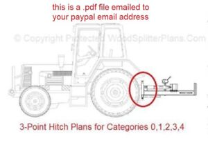 3 point Hitch Plans For Categories 0 1 2 3 And 4 Tractor Implement Attachment