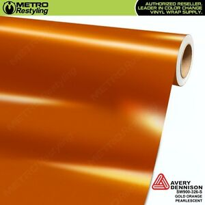 Avery Supreme Gloss Gold Orange Pearl Vinyl Vehicle Car Wrap Film Sw900 326 s