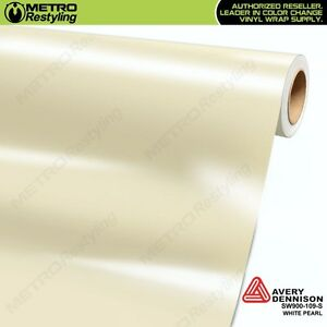 Avery Supreme Gloss White Pearl Vinyl Vehicle Car Wrap Film Roll Sw900 109 s