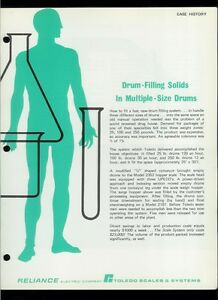 Rare Vintage Original Toledo Scale Brochure Drum Filling Solids Case History