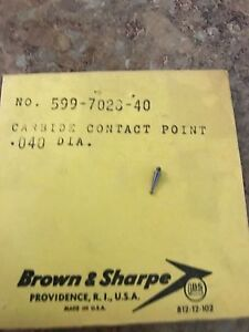 Brown And Sharpe 599 7028 40 Contact Point 040 Diameter
