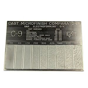 Gar Surface Roughness Scale C 9 Cast Microfinish Surface Comparator