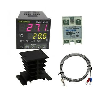 Inkbird Ac 100 220v Itc 100vh Digital Pid Thermostat Temperature Controller
