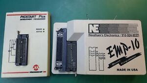 Lot Of 2 Needham s Electronics Emo 10 Device Programer microchip Picstart Plus