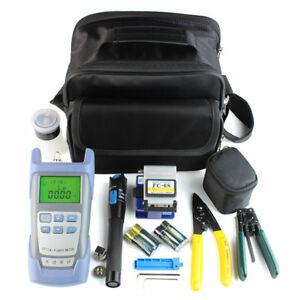 Fiber Optic Ftth Tool Kit With Fc 6s Fiber Cleaver And Optical Power Meter 5km O
