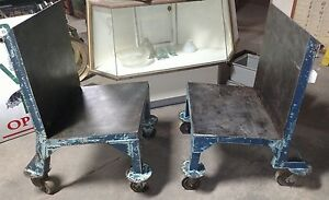 2 Reclaimed Vintage Industrial Material Handling Carts Angry Chairs Rca Indpls