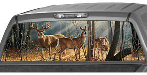 Deer Family Window Graphic Tint Decal Sticker Truck Jeep Suv Hunting Buck