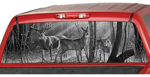 Deer Family B w Window Graphic Tint Decal Sticker Truck Jeep Suv Hunting Buck
