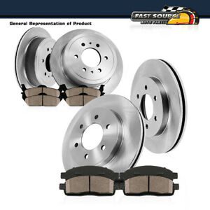 Front And Rear Brake Rotors Ceramic Pads Kit Ford F150 Lincoln Mark Lt 4x4 4wd