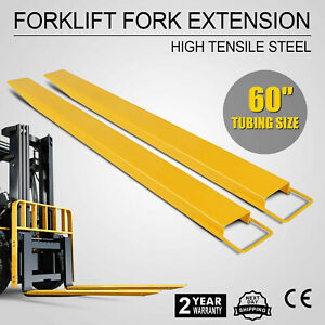 60 X 5 4 Forklift Pallet Fork Extensions Pair Heavy Duty High Tensile Firmly