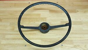 Vintage Oem 1966 66 Chevy Ii Nova Steering Wheel Missing Trim